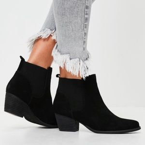 Ecote black suede booties by Urban Outfitters
